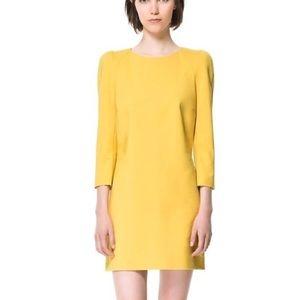 NWT Zara Yellow Mini Dress